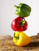 Stacked mixed peppers