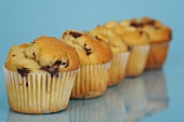 Five chocolate chip muffins