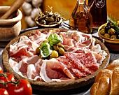 Still life with bacon platter