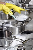 Washing up pans