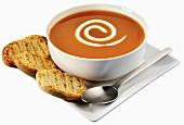 Rose hip soup with brödli (Scandinavia)