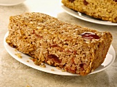 Cherry & coconut flapjack (Rolled oat tray bake, UK)
