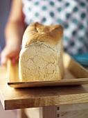 A white tin loaf