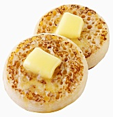 Two buttered crumpets (UK)