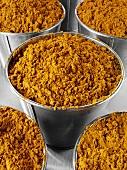 Curry powder in buckets