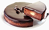 Chocolate cheesecake with chocolate icing (Belgium)
