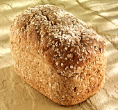 A loaf of oat bread on wholemeal flour