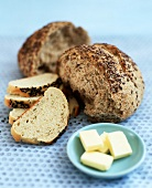 Wholemeal roll with butter
