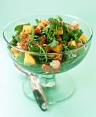 Mango-corriander salad with prawns