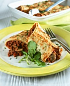 Pancakes filled with minced meat