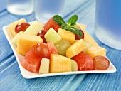Melon and grape salad