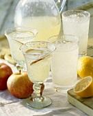 Apple cocktail and lemonade
