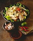 Yam Kai (Thai salad with chicken breast)