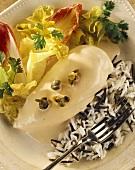 Pollo tonnato (chicken breast with a tuna sauce)