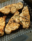 Grilled swordfish with fennel seeds
