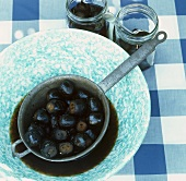 Black walnuts in syrup