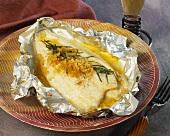 Lemon sole in tin foil