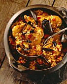 Jambalaya (rice with chicken and mussels, USA)