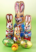Chocolate Easter Bunnies and chocolate eggs