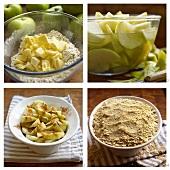 Apfelcrumble zubereiten