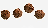 Four chocolate truffles