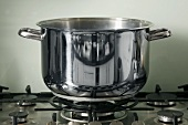 A pan on a gas cooker