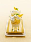 Mango and yoghurt dessert