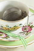 Tea infuser in a cup