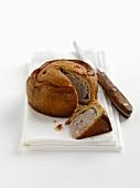 Melton Mowbray pork pie (a piece removed, England)