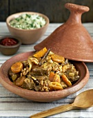 Lamb tajine with rice