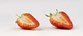 Two strawberry halves