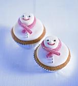 Christmas cupcakes (snowmen)