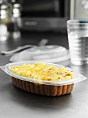 Shepherd's pie in plastic container to take away