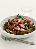 Spicey strawberry salad