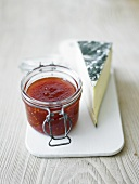 Chilli preserve with goats cheese