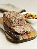 Meatloaf with root vegetable salad