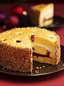 Orange and cranberry gateau
