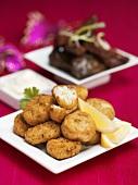 Fish cakes with lemon