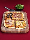 Pizza Quattro Stagioni, cut