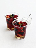 Berries in a wine jelly