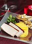 Pate with yellow beetroots and toast (Christmas)