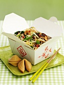 Chow Mein takeaway (Noodle dish, China)
