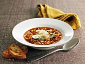 Minestrone with smoked bacon