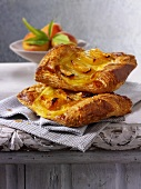 Apricot puff pastry tart