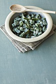 Spinach gnocchi with sage and parmesan