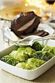 Savoy cabbage roulades