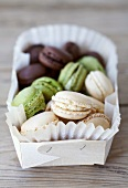 Almond, pistachio and chocolate macaroons