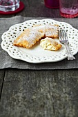 Sweet ravioli with ricotta filling