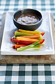 Bagna Cauda (raw begetables with a garlic and anchovy dip)