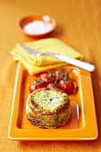 Carrot and courgette tart